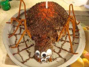 Spider's spider birthday cake, served on Mar. 28, 2009