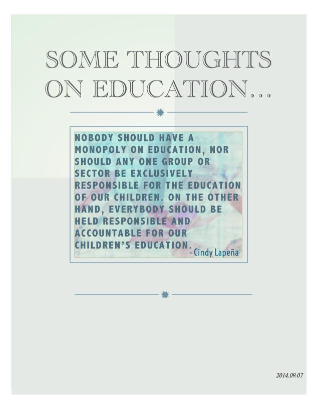 poster ..thoughts on education